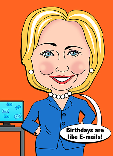 Birthdays Are Like Emails Card Cover