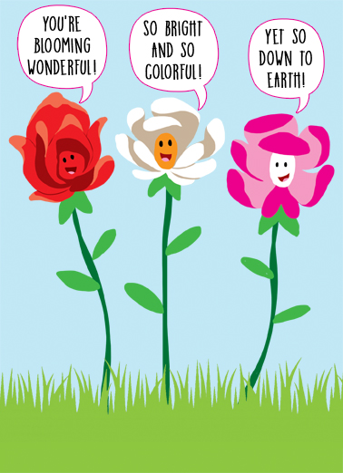 """Funny Mother's Day Card - """"Three Flowers"""" from CardFool.com"""