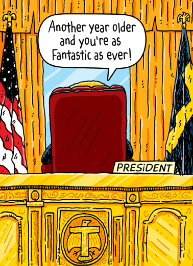 Funny Birthday Card Oval Office From Cardfool